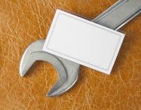 пустой ключ визитной карточки Стоковое Изображение