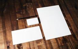 Пустой комплект канцелярских принадлежностей Стоковые Изображения RF