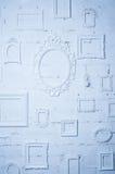 Пустой комплект шаблона картинной рамки изолированный на стене Стоковое Изображение RF