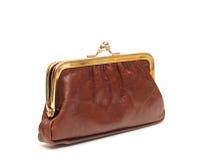 Пустой коричневый бумажник Стоковое Изображение RF