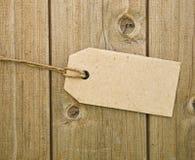 пустой коричневый ценник Стоковое Фото