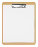пустой коричневый clipboard стоковые изображения rf