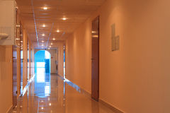 Пустой коридор офиса Стоковое Изображение RF