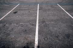 Пустой космос места для стоянки для автомобилей Стоковые Фотографии RF