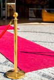 Пустой красный ковер Стоковые Изображения