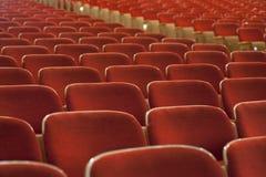 пустой красный театр seating Стоковая Фотография