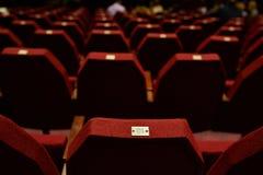 пустой красный театр seating Стоковое Фото
