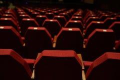 пустой красный театр seating Стоковая Фотография RF