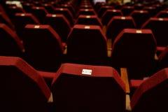 пустой красный театр seating Стоковые Изображения