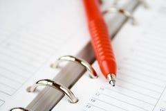 пустой красный цвет пер календара Стоковое Фото