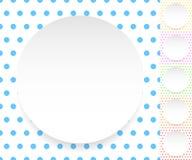 Пустой круг, лист, диск над картиной polkadot/предпосылкой Стоковое Изображение RF