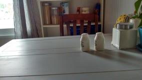 пустой кухонный стол стол Стоковые Фото