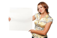 пустой лист девушки Стоковые Изображения RF