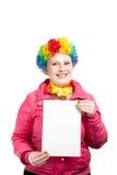 пустой лист клоуна стоковые изображения rf