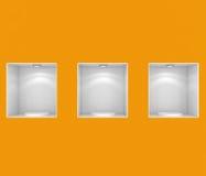 пустой магазин витрины Стоковые Фотографии RF