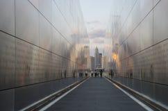 Пустой мемориал 11-ое сентября неба Стоковые Изображения