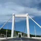 Пустой мост Элизабета в Будапеште Стоковая Фотография