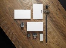 Пустой модель-макет канцелярских принадлежностей Стоковое Фото