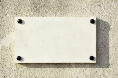 пустой мраморный signboard Стоковая Фотография RF