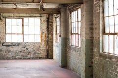 Пустой офис склада или торговый район, промышленная предпосылка Стоковое Изображение