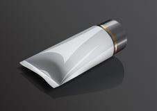 Пустой пакет сливк трубки состава для иллюстрации вектора модель-макета Стоковая Фотография
