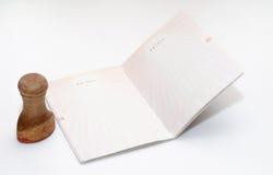пустой пасспорт страницы Стоковое фото RF