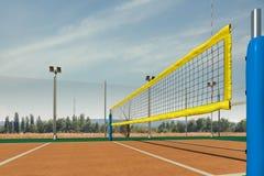 Пустой перевод арены 3d волейбола Стоковая Фотография