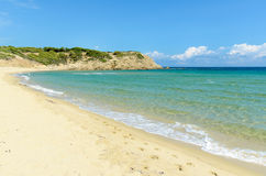 Пустой песчаный пляж Стоковые Фотографии RF