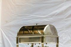Пустой пищевой контейнер сделанный из стали Стоковое Фото