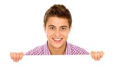 пустой плакат человека удерживания Стоковое Фото