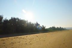 Пустой пляж в Индии Стоковые Изображения