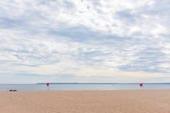 Пустой пляж на острове кролика, Нью-Йорке стоковое изображение
