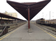 пустой поезд станции стоковая фотография