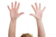 пустой показывать рук Стоковое Фото