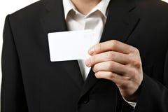 пустой показ визитной карточки Стоковое Изображение RF