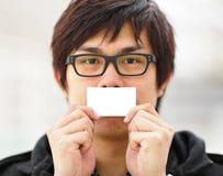 пустой показ визитной карточки Стоковое Фото