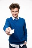 пустой показ карточки бизнесмена дела Стоковое Изображение