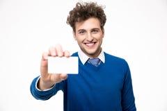 пустой показ карточки бизнесмена дела Стоковая Фотография RF