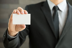 пустой показ карточки бизнесмена дела Стоковые Фотографии RF