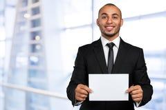 пустой показ карточки бизнесмена дела Стоковое Изображение RF