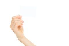 пустой показ руки визитной карточки Стоковые Фото