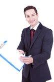 пустой показ человека clipboard дела Стоковые Изображения RF