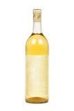 пустой покрашенное бутылкой вино света ярлыка Стоковое Изображение
