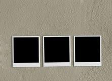 пустой поляроидный песок Стоковая Фотография RF
