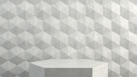 Пустой подиум на предпосылке картины шестиугольников Стоковые Изображения RF