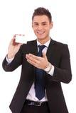 пустой представлять примечания человека визитной карточки Стоковое Фото