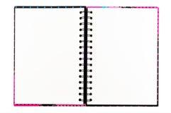 пустой примечание изолированное книгой открытое Стоковые Изображения