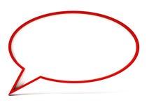 Пустой пузырь речи Стоковое Изображение RF