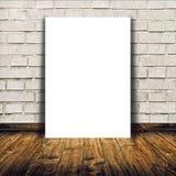 Пустой плакат как шаблон космоса экземпляра для вашего дизайна Стоковое Изображение