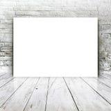 Пустой плакат как шаблон космоса экземпляра для вашего дизайна Стоковое Изображение RF